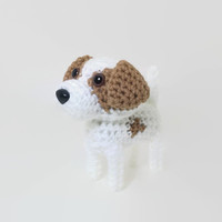 Pointer Knit Amigurumi Dog Crochet Dog Stuffed Animal Hunting Dog / Made to Order