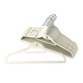 Real Simple Slimline Hangers with Built-in Hooks (Set of 50) - Stone