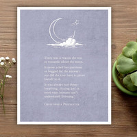 Poetry Art - Christopher Poindexter - Poetry Print - Moon Quote - Love Poem Print - Typography Poster