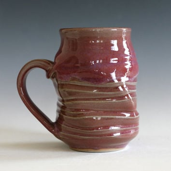Pottery Mug, twisted ceramic cup, tea cup, coffee cup, wheel thrown pottery mug, stoneware mug, unique coffee mug