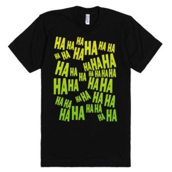 HA HA HA The Laughing T Shirt-Unisex Black T-Shirt