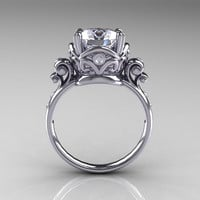 Modern Vintage 14K White Gold 2.5 Carat White by artmasters