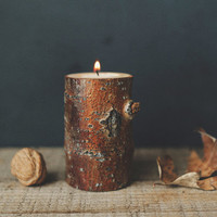 Tree Candle Holder / SMALL / Tea Light / Made from Fallen Tree Limbs by Woodsy Foxman