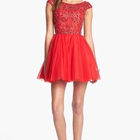Women's Sherri Hill Embellished Tulle Fit & Flare Dress (Online Exclusive)