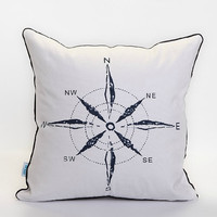 View Invoice Renew Sold Copy 1 cotton navy style pattern compass white decorative pillow case / pillow cover / cushion cover  18