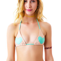 Lolli Swim Lover Triangle Hearts Top