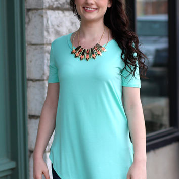 Basic Short Sleeve Top {Mint}