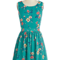 ModCloth Mid-length Sleeveless A-line Blossom in the City Dress