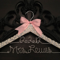 Brides Hanger / Bridal BLING Hanger with Wedding Date by GetHungUp