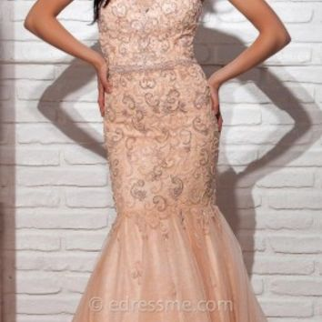 Scroll Trumpet Prom Gown by Tony Bowls Le Gala