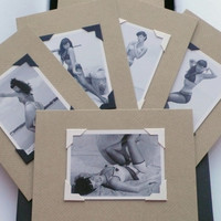 Bettie Page Valentine Gift Note Cards Boxed Set Vintage Betty Bangs Stationery