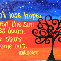 Don't Lose Hope Quote on 11x14 Canvas