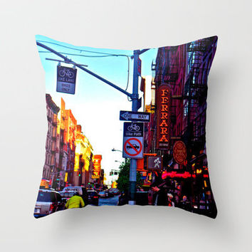 Sun Goes Down  in the City Throw Pillow by Kelsey Pohlmann | Society6