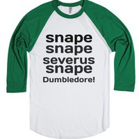 snape-Unisex White/Evergreen T-Shirt