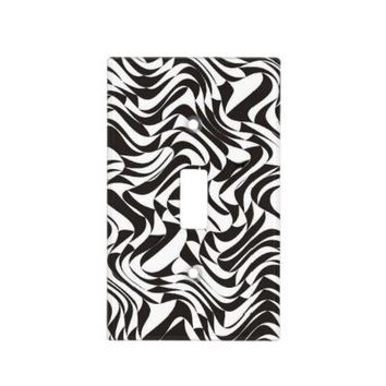 Elegant Black and White - Light Switch Cover