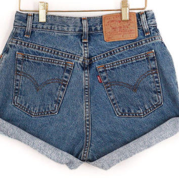 Made to Order High Waisted Vintage Jean Shorts Cutoff ALL SIZES, Levi Shorts, Summer Shorts, High Rise Made for you. S-XXL