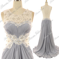 Formal Dress Lace Prom Dresses Gray Lace Bridesmaid Dress Wedding Dress Party Dress Cocktail Gown Prom Dress Bridesmaid Dresses Ball Gowns