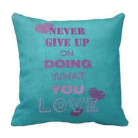 Do what you love motivational text typography pillow
