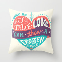 Frozen: Act of True Love Throw Pillow by Risa Rodil