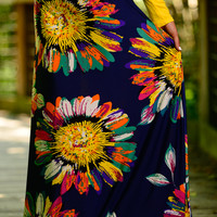 Abstract Sunflower Maxi, Navy