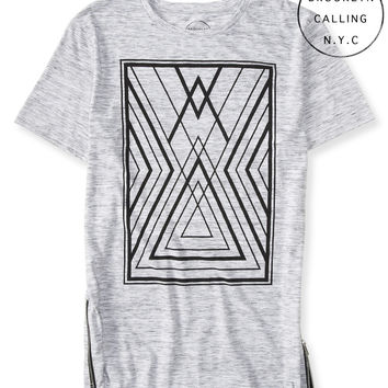 Brooklyn Calling Geo Zippered Tee