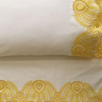 Eyelet Embroidered Sheet Set by Anthropologie