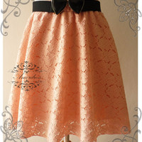 NEW TODAY Vintage Style Handmade 1960's Inspired Flare Pinky Pink Lace Mini Skirt Mix and Match