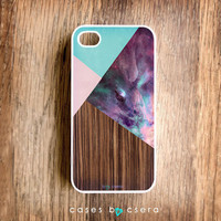 Wood iPhone Case, iPhone 5 Cases Coming Soon, Geometric iPhone 4 Case, Galaxy Print Accessories - Plastic iPhone Case From Cases By Csera