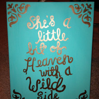 Little Bit of Heaven with a Wild Side Canvas