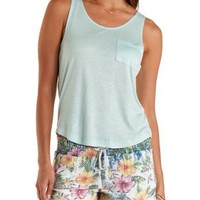 High-Low Pocket Tank Top by Charlotte Russe