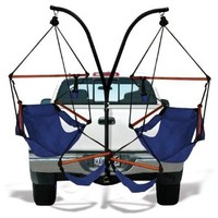 Trailer Hitch Stand and 2 Black Hammaka Chairs Combo - WD