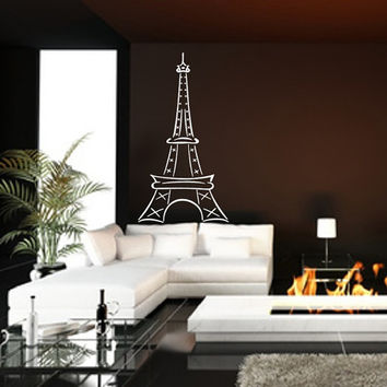 Eiffel Tower Large Abstract Vinyl Wall Decal Style B 22410