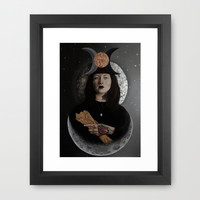 High Priestess Tarot Card Framed Art Print by K I T K I N G