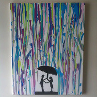 Rain On Me Tonight by LuvYourselfPaintings on Etsy