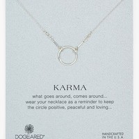 Women's Dogeared 'Reminder - Karma' Boxed Pendant Necklace