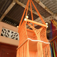 Orange Color Happy Baby Chair Hammock for Children by hamanica
