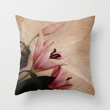 Flowers for a dream Throw Pillow by VanessaGF