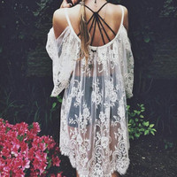 Meow Lace Tunic - Sold Out