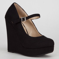 Delicious Finch Womens Wedges Black  In Sizes