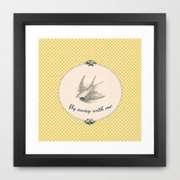 Fly Away With Me Framed Art Print by Ally Coxon