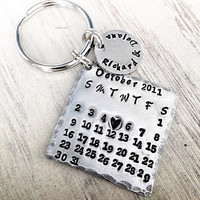 Calendar keychain - custom to your special date