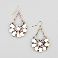 Full Tilt Beaded Medallion Drop Earrings Ivory One Size For Women 24067416001