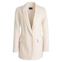 J.Crew Womens Collection Long One-Button Blazer In Linen