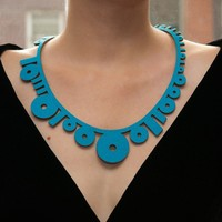 Binary Necklace // Turquoise by mariaeife on Etsy