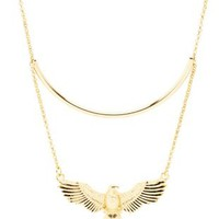 Gold Tube & Eagle Choker Necklace by Charlotte Russe
