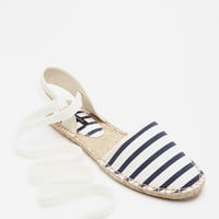 Striped Espadrille Flats