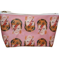 David Bowie Pop Zipper Pouch and Makeup Bag – Illustrated and Handmade in the USA