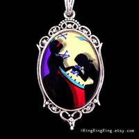 Cinderella pendant At 10 O'clock silver necklace by RingRingRing