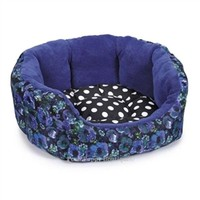 Reversible Isaac Mizrahi™ Floral Dot Nesting Dog Bed- Beds, Blankets & Furniture - Bolster Style Posh Puppy Boutique