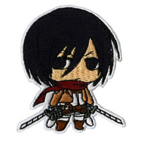 Attack On Titan Chibi Mikasa Patch